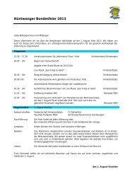 1. August-Feier - Gemeinde Hüntwangen