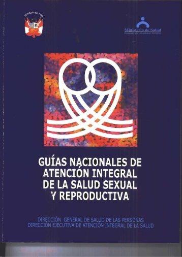 Guías nacionales de atención integral de la salud sexual y ...