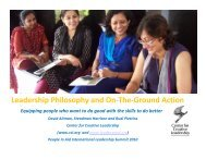 Leadership Philosophy and On-The-Ground Action - People In Aid