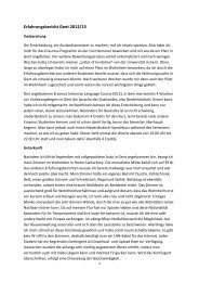 Erfahrungsbericht Gent 2012/13