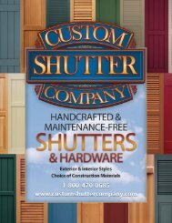 decorative hardware - Custom Shutter Company