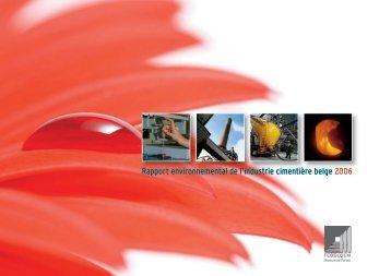Rapport environnemental de l'industrie cimentière belge ... - Febelcem