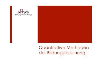 Quantitative Methoden der Bildungsforschung