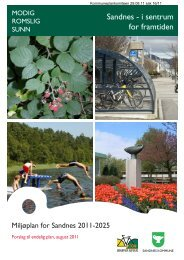 Vedlegg: Miljøplan for Sandnes 2011 – 2025 – Forslag til endelig plan
