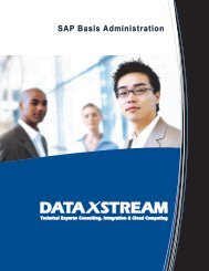 SAP Basis Administration Brochure - DataXstream