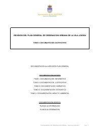 Memoria Justificativa del Plan General - Villajoyosa