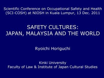 Paper 6 - Safety cultures - NIOSH
