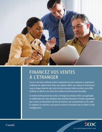 Financez vos ventes à l'étranger – Exportation et ... - EDC