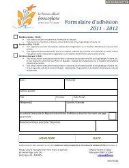 Formulaire d'adhésion 2011 - 2012 - Portail des francophones de ...