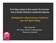 From Ego-system to Eco-system Economies: How to ... - Otto Scharmer