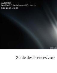 Guide des licences 2012 - Autodesk