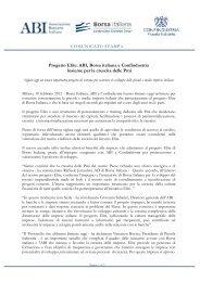 Progetto Elite: ABI, Borsa italiana e Confindustria insieme per la ...