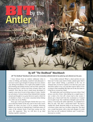 Bit by the Antler - Big Buck Magazine