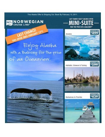 This Alaska Offer Is Shipping Out. Book By February 13, 2011.