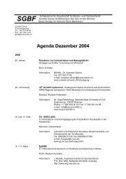 Agenda vom Dezember 2004 - SGBF-SSMSR