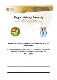Tartalom - Magyar Labdarúgó Szövetség Komárom-Esztergom Megyei