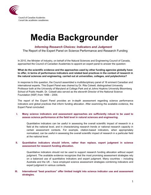 Media Backgrounder - Long Range Plan for Mathematical and