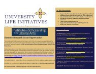 Summer Research Grant Opportunity! - University Life Initiatives