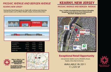 kearny, new jersey passaic avenue and bergen ... - Welco Realty, Inc