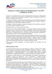Příloha č. 5 - Zpráva o prezentačních akcích - Českomoravská ...