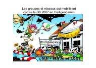 Les groupes et réseaux qui mobilisent contre le G8 2007 ... - Gipfelsoli