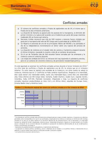 Barómetro 24 Conflictos armados - Escola de Cultura de Pau