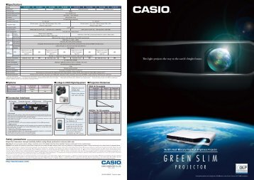 Full range projector brochure (.pdf, 1.83mb) - CasioEd
