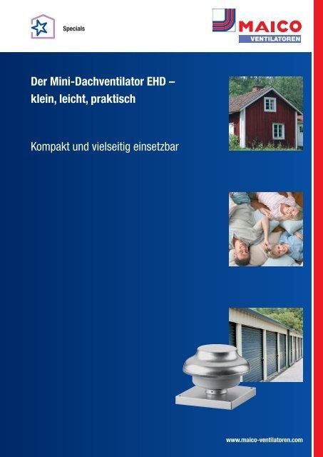 Der Mini-Dachventilator EHD - Maico