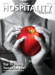 Top 10 Dining Trends for 2007 - Hospitality Maldives