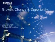 Growth, Change & Opportunity - SAMRA