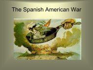 Chapter 20 The Spanish American War