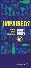 Impaired? – Don't Drive!