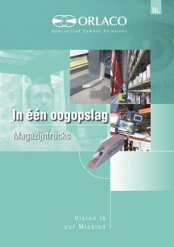 Brochure met zichtoplossingen voor magazijn (reach) trucks