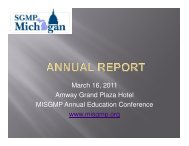 MISGMP Annual Report - Michigan Chapter - Society of Government ...