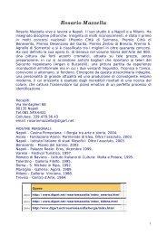 Rosario Mazzella vive e lavora a Napoli - Ortopedia2000.it