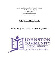 Substitute Handbook - Johnston Community School District