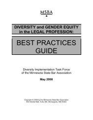 BEST PRACTICES GUIDE - Minnesota State Bar Association