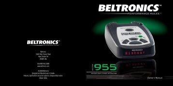 V955 Manual - Buy Radar Detectors