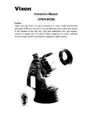 Instruction Manual - Vixen Optics