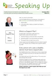 'Newsletter Speaking Up Summer 2012' ( PDF 318 KB ) - Disability ...