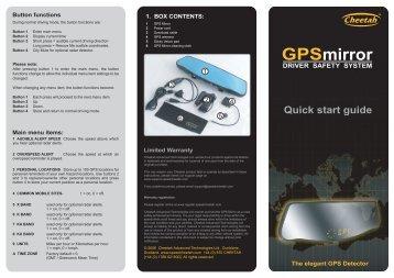 Quick start guide - Buy Radar Detectors