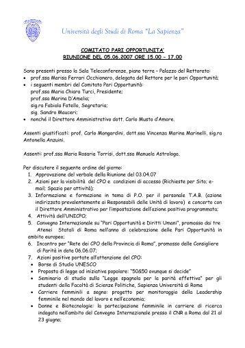 Sapienza universit di roma elenco tutor di medicina for Elenco studi di architettura roma