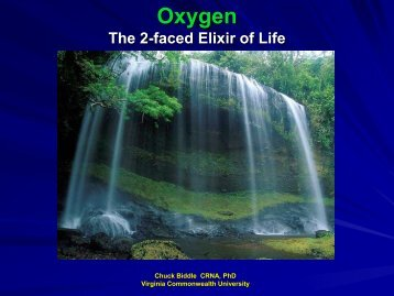 Oxygen The 2-faced Elixir of Life