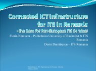 Connected ICT Infrastructure for ITS in Romania - the Base ... - ANTS