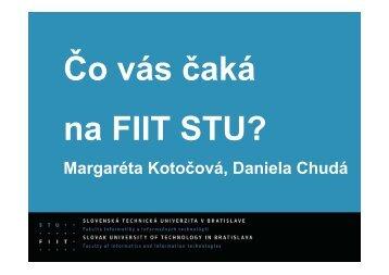 Margaréta Kotočová, Daniela Chudá - FIIT STU