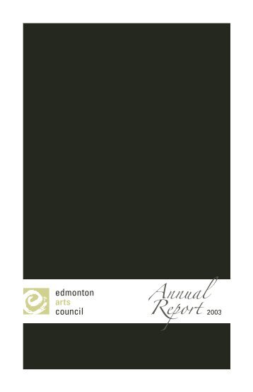 Untitled - Edmonton Arts Council