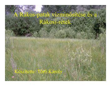 A Rákos-patak vízminősítése és a Rá kosi-rétek - EMLA Egyesület
