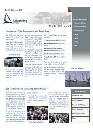 Muster Report - The Coastal Passage Home Page