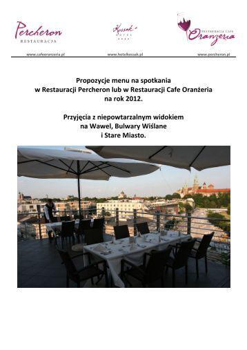 Propozycje menu na spotkania w Restauracji ... - Hotel Kraków