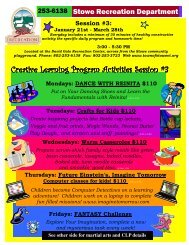 CLP Session #3 Flyer 07-08 - the Stowe School District